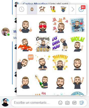 Avatar de facebook como stickers